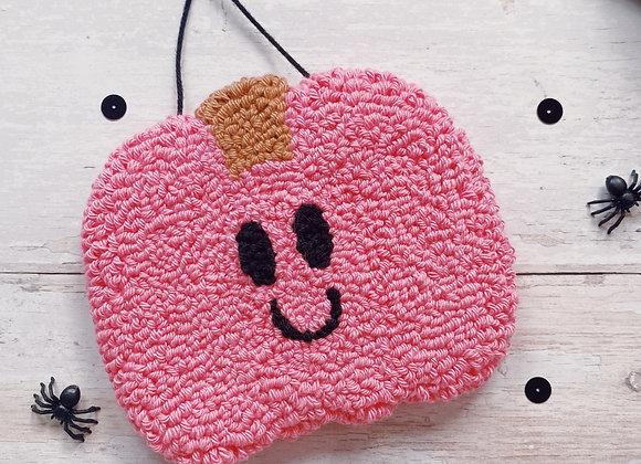 Candy Pink Pumpkin Wall Charm