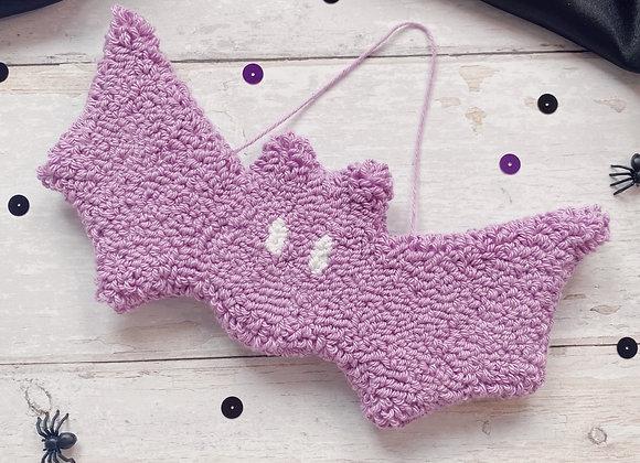 Purple Bat Wall Charm