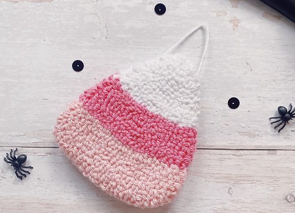 Pink Candy Corn Wall Charm