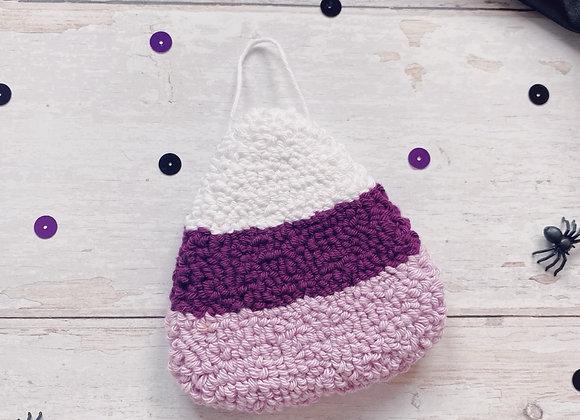 Purple Candy Corn Wall Charm