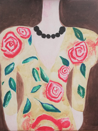 SS2021/Roses Painting Size: 40 W x 50 H x 1 D cm 2021