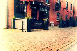 Cafe Windbreak Barriers & Planters