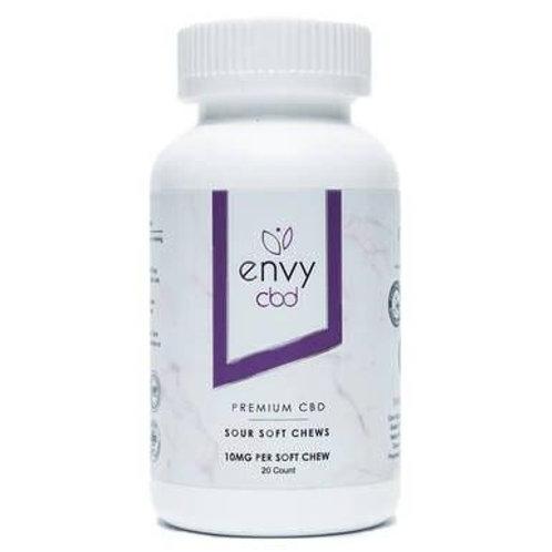 ENVY CBD - CBD Edible - Sour Soft Chew Gummies - 10mg