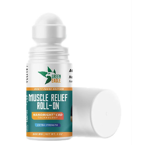 Green Eagle - CBD Topical - Broad Spectrum Muscle Relief Roll-On - 500mg-1000mg