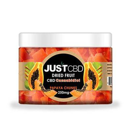 JustCBD - CBD Edible - Dried Papaya Chunks - 12mg