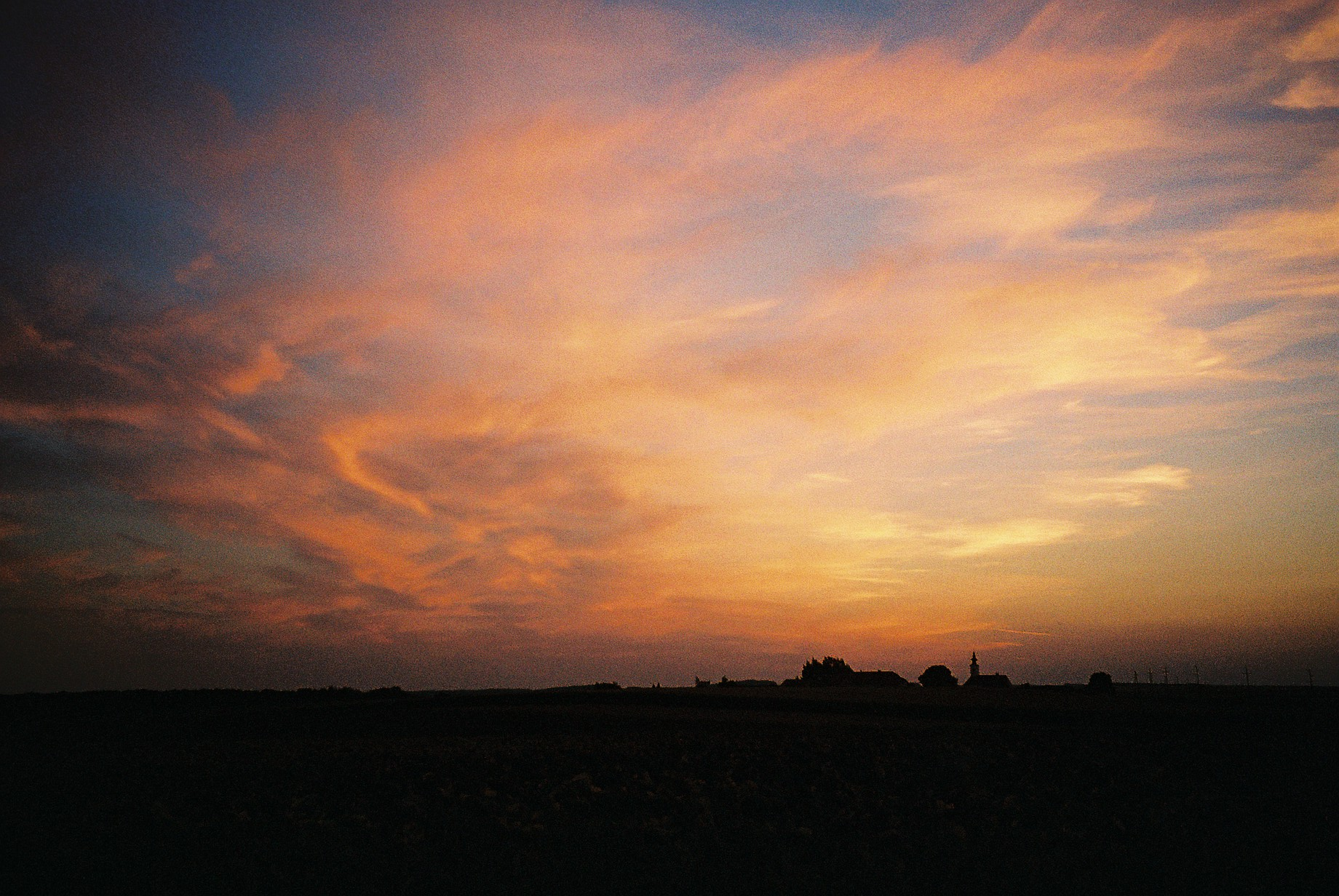 Sonnenuntergang in Geras