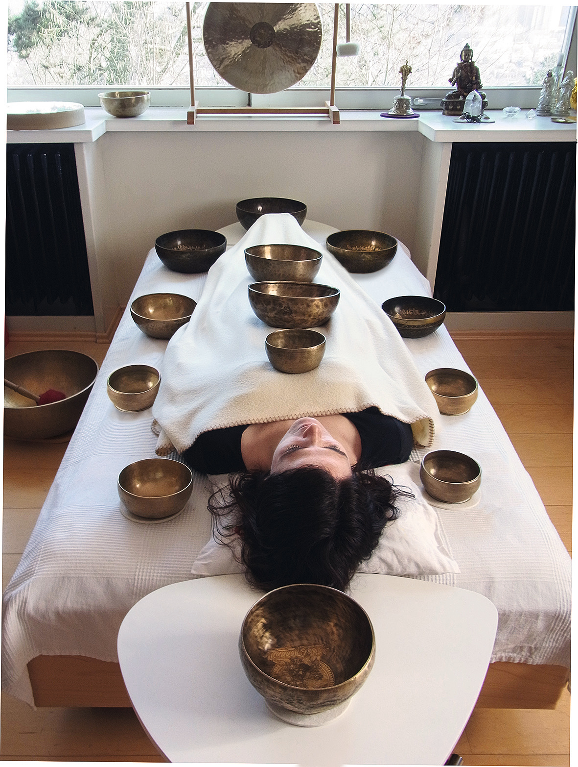 Bereit zur Klang-Massage
