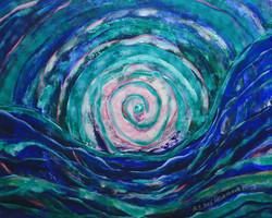Spirale in Wellen