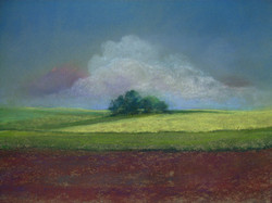 Landschafts-Pastellbild