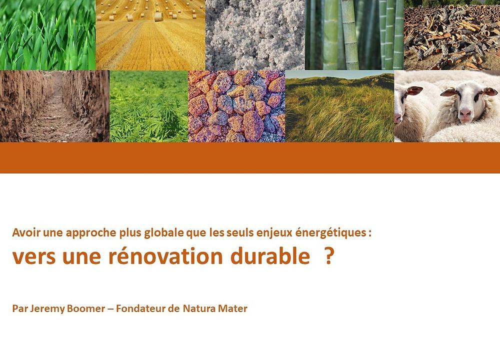 Webinaire Natura Mater