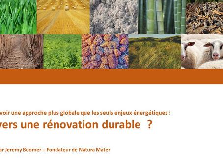 Natura Mater intervient au webinaire du groupe Défi au Parlement bruxellois