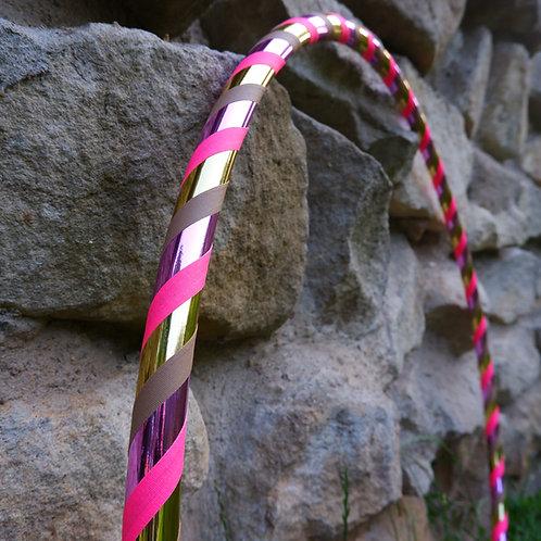 Zlato růžová obruč hula hoop