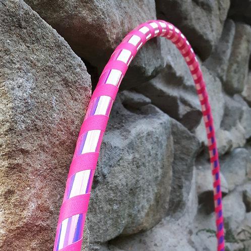 Soft pink měnící obruč hula hoop