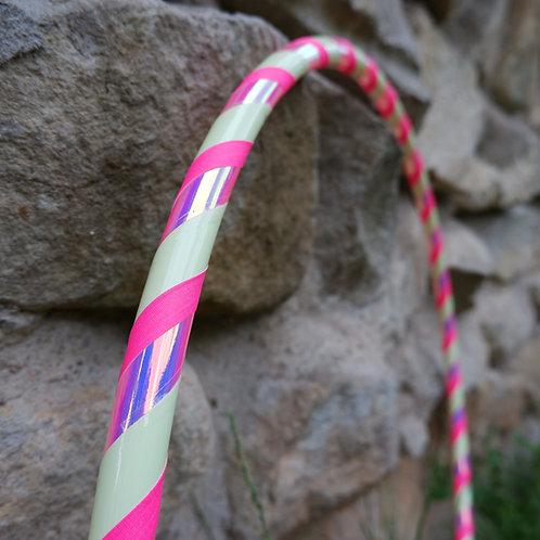 Růžová svítící luminiscenční obruč hula hoop