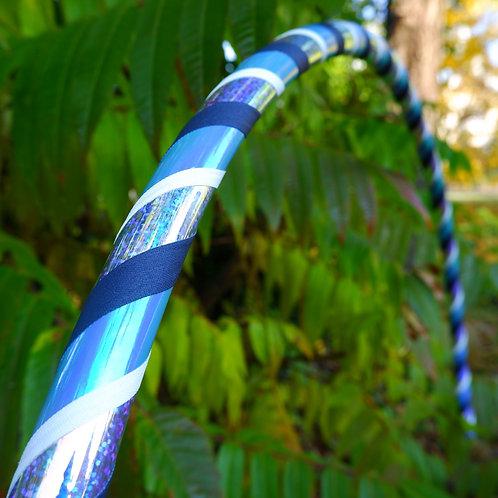 Blue sparkle obruč hula hoop