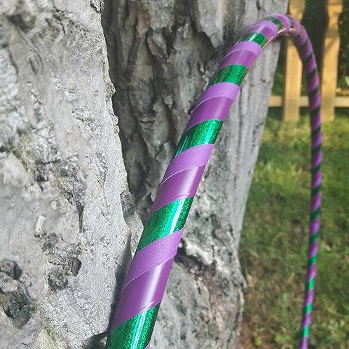 Glittery purple-green hula hoop