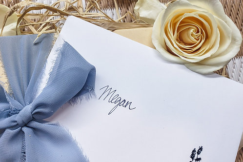 Hand Written Card w/ Envelope