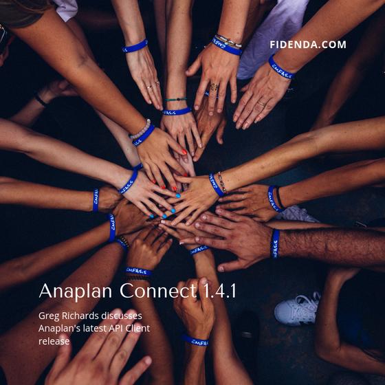 Anaplan announces Anaplan Connect 1.4.1 Release