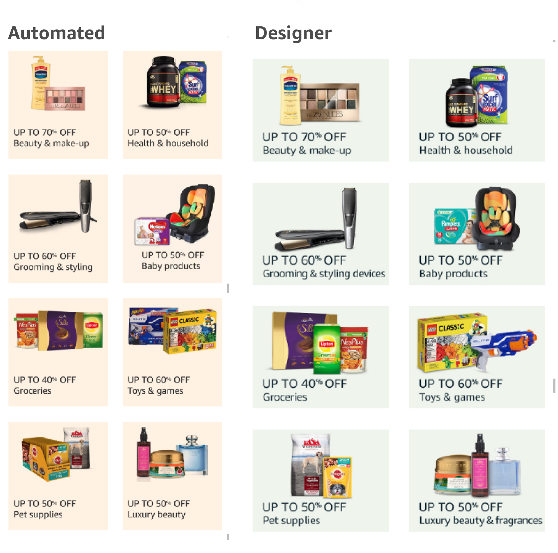 Automated vs designer created event pages | Jan ART 2019