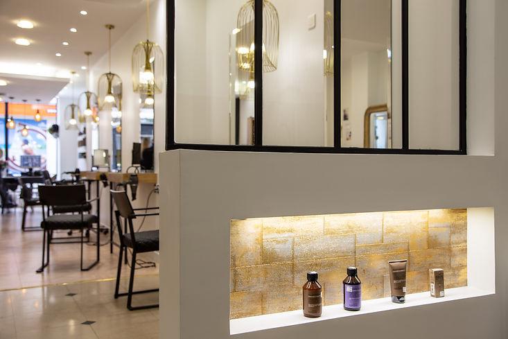 Salon de coiffure fait par un architecte Parisien