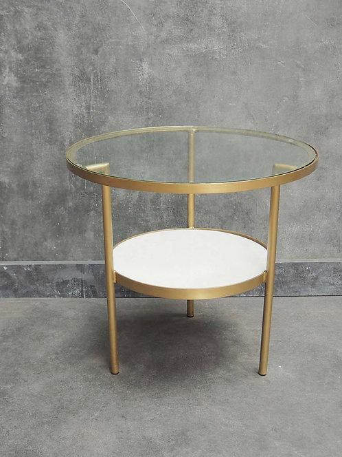 Table basse verre et marbre