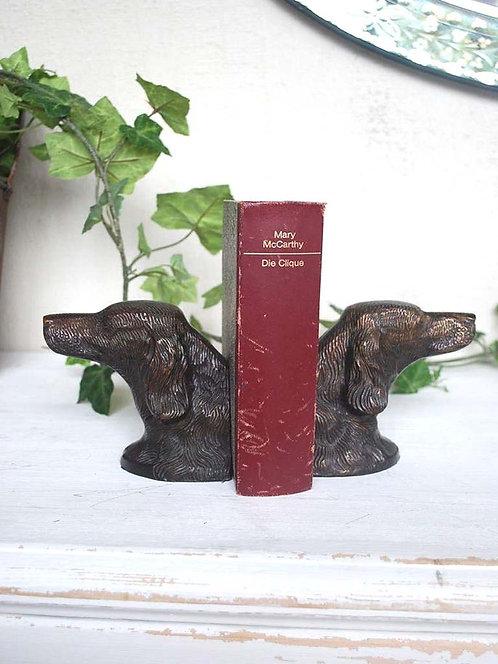 Serre livres Setter en bronze