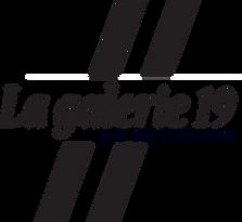 logo en négatif de la galerie 19 cabinet d'art et architecture Paris 15
