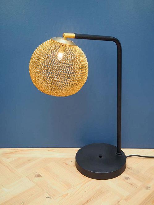 Lampe à poser boule grillage