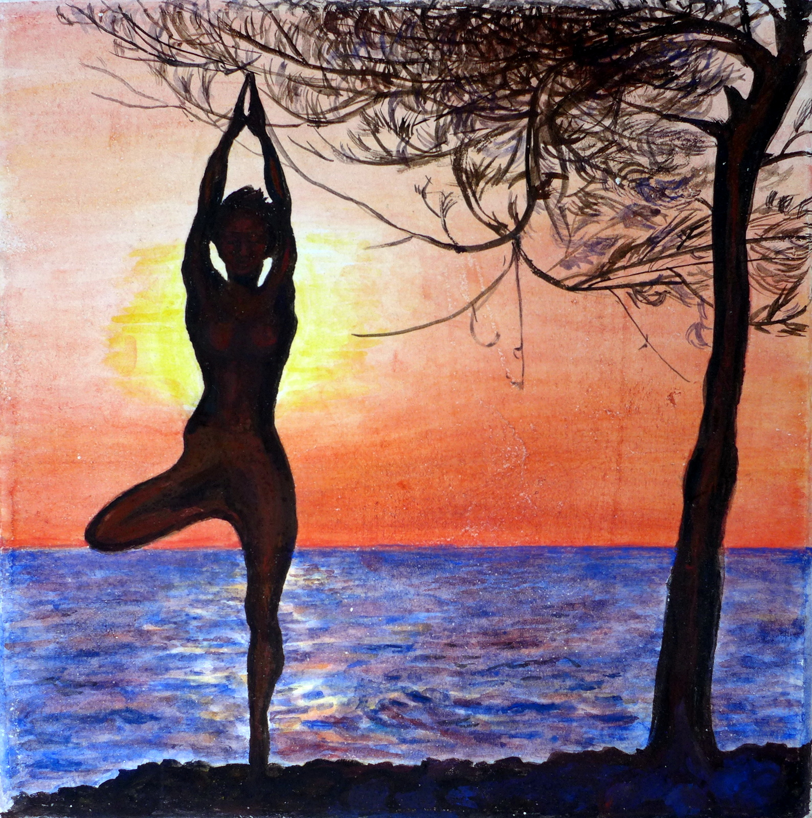 sunset yoga - ©sanna holm 2014