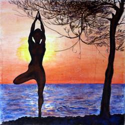 sunset yoga - ©sanna holm 2014