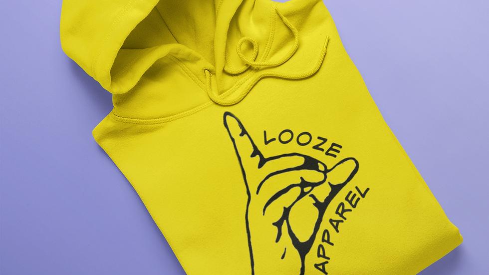 Looze Apparel Yellow & Black Hoodie