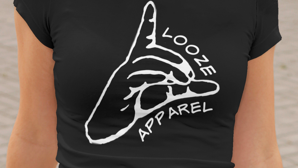 Looze Apparel Black & White Fitted Tee