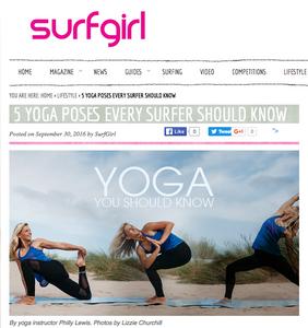 Surfgirl Magazine yoga philly lewis