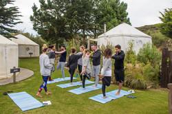 Group yoga Cornwall Surf Yoga Retreat Wild Free