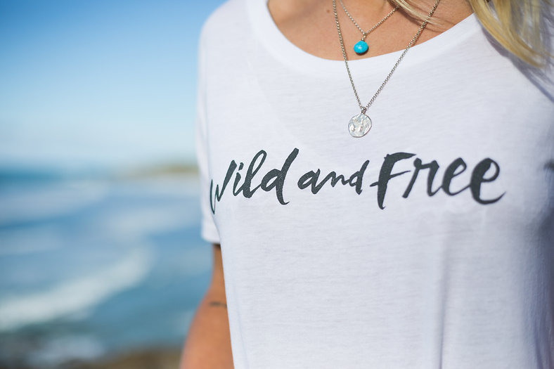 White female Wild and Free T-Shirt