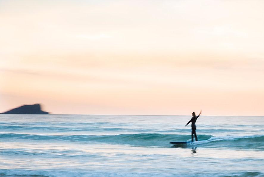 Alan Stokes Wild & Free Adventures longboard wave