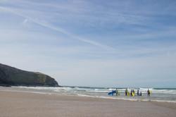Group surf Cornwall Surf Yoga Retreat Wild Free