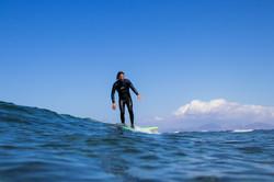 Alan Stokes surfing in Fuerteventura