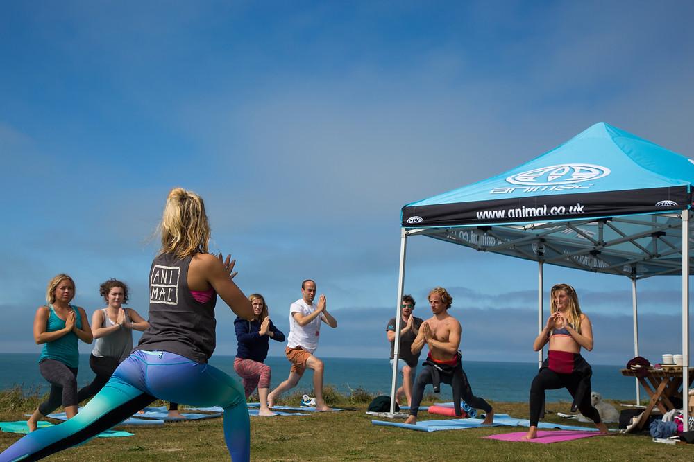 yoga fistral beach