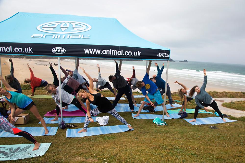 yoga and surf animal