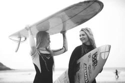 Girls enjoying a post surf chat