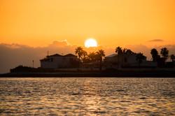Beautiful orange sunset Fuerteventura