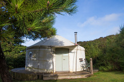 Yurt shot Cornwall Surf Yoga Retreat Wild Free