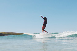 Catching a green wave Cornwall Surf Yoga Retreat Wild Free
