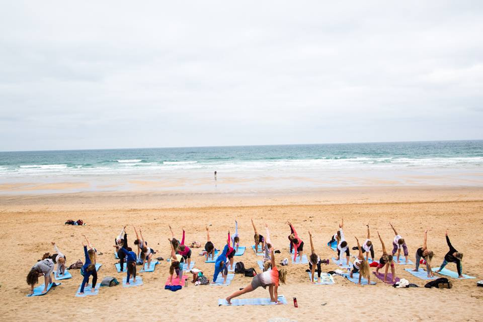 Yoga on Fistral