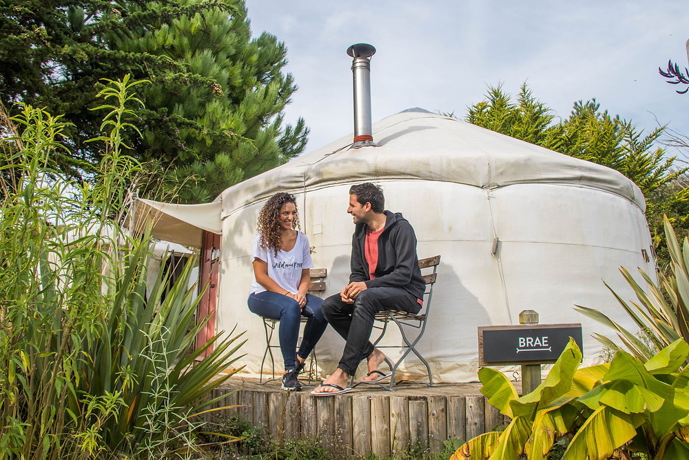wild and free adventures, luxury yurt, yoga retreat, surf lesson, mawgan porth, yoga teacher, philly lewis, alan stokes, surf and yoga retreat, holiday, travel Cornwall, spring, couple holiday, glamping