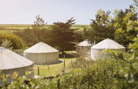 cornwall yurt retreat