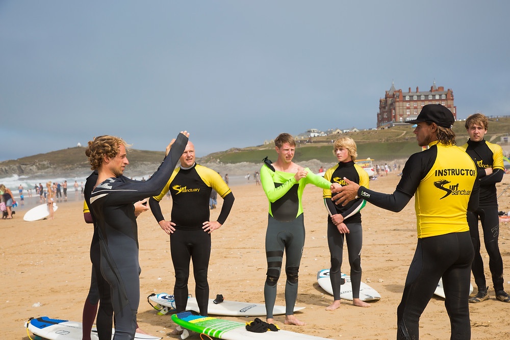 surf and yoga day fistral