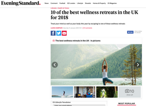 Evening Standard, Wild & Free Adventures, Philly Lewis, Alan Stokes, best wellness retreat, surf and yoga, Cornwall