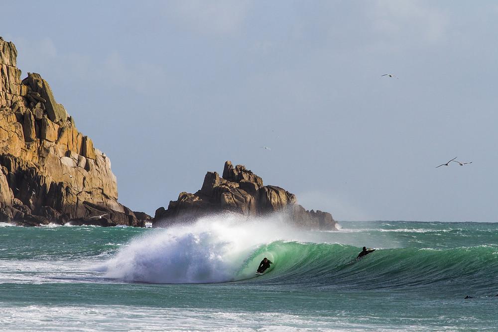 Alan Stokes Luke Gartside Wavelength Surfing Magazine Wild And Free Adventures surfing cornwall surf and yoga